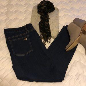 MICHAEL KORS zipper detail skinny jeans